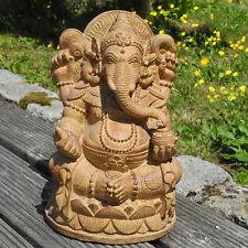 Ganesha Skulptur Figur Glück Gott Glücksbringer ocker Buddha Stein Bali Deko