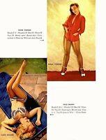 Pinup Lithograph Mara Corday Cleo Moore Paula Doretti Marci Lang 1953 VTG Promo