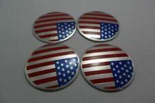 "4X 2.2"" Auto Wheel Center Hub Caps United States USA Emblem Badge Decal Sticker"