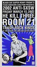 Anti SXSW The Black Cat Room 21 Trash Rock Kings 2002 Silkscreen Promo Poster