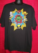 Marvel Kawaii Characters Mens Adult XL Unisex T-Shirt - NOS