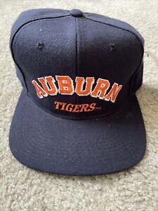 NWT Vintage Auburn Tigers Hat Orange Blue Snapback Adjustable NCAA Deadstock
