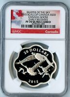2015 SCALLOP CANADA NGC EARLY RELEASES PF70 UCAM CANADA GOOSE S$20! 6,000 MINTED