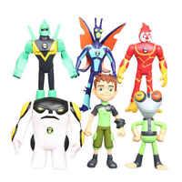 Ben 10 Action Figures Toys 6 PCS Set: Tennyson Heatblast XLR8 Cake Toppers BULK