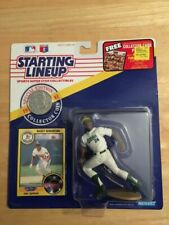 Rickey Henderson 1991 Oakland Starting Lineup Figure Kenner W Card Coin A79