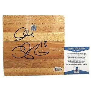 Doug Christie Signed Kings Basketball Floor Board Beckett BAS Proof of Autograph
