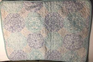 "TOMMY BAHAMA HOME Standard Pillow Sham blue/green/gray Cotton, 20"" x 26"""
