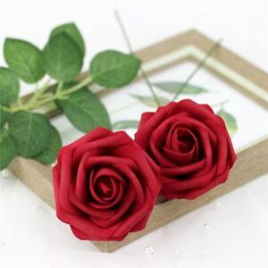 25X Foam Roses Artificial Fake Flowers Party Wedding Bride Bouquet Home Decor
