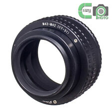 M42 to M42 17-31mm Adjustable Focusing Helicoid Adapter  Macro Extension Tube