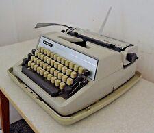 Vintage Adler Gabriele 25 Portable Typewriter in Case Office Manual Working Used