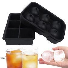 Ice Cube Trays Ice Ball Maker Square Round Sphere Mold Black (6Ice Ball+6Cu XPF
