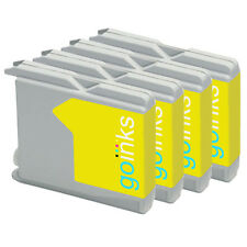 4 Yellow Ink Cartridges compatible with Brother MFC-260C MFC-5860CN MFC-240C