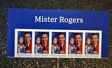 2018USA Forever Mister Rogers - Header strip of 5  Mint NH