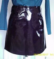 SELFRIDGE GLOSSY BLACK Faux Leather PU MINI SKIRT M uk14eu40us10 Waist w32i w81c
