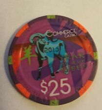 Authentic Collectable Commerce Casino Poker Chip of  California LTD Edtn 666th