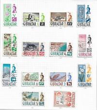 Gibilterra 1960-62 REGINA ELISABETTA USATI Set di 14 SG 160/73 Mio ref 1675
