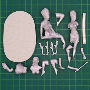 Cinderella 75mm 3 Figuren El Viejo Dragon Miniaturas Pin Up ASR18