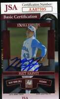 Matt Harvey 2011 Panini Rookie Jsa Coa Hand Signed Authentic Autograph