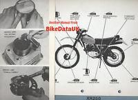 Honda XR250 (1979-1980) Factory Work-Shop Manual XR 250 Trail/Enduro,pre-XR250R