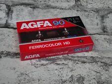 AGFA Ferrocolor HD 90+6 Vintage Blank Sealed Cassette Tape