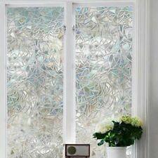 2M x 45CM PVC Frosted Glass Film Sticker Bathroom Window Home Privacy Film NEW