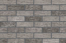 Strangpress Klinker-Riemchen NF-Format grau Kohlebrand Riemchen Verblender