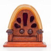 1:12 Miniature Vintage Antique Radio Dollhouse Decoration Accessories A3L7