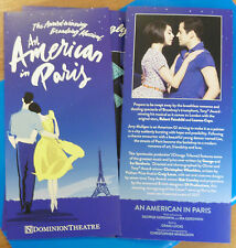 AN AMERICAN IN PARIS – GERSHWIN MUSICAL - DOMINION THEATRE, LONDON – FLYER 2017