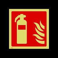 Fire Extinguisher Logo Photoluminescent Sign, Sticker - All Materials (FE20)