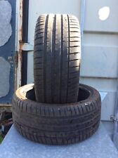 TWO 255-35-20 MICHELIN PART WORN TYRES