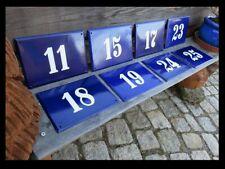 Haus Nummer  15 17 18 19 23 24 25 gewölbt & fette weiße Schrift / 30 x 21 cm