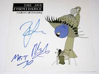 THE JOY FORMIDABLE SIGNED AUTHENTIC VINYL RECORD ALBUM LP w/COA X3 BRITISH BAND