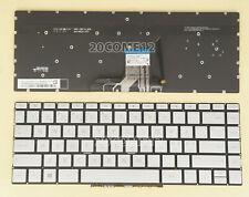 Nuevo Para HP ENVY 13-ah0000 13t-ah0000 Teclado Nordic Scandinavian Iluminado De Plata