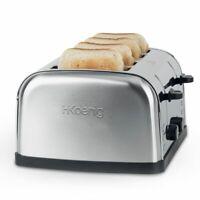 Premium  4 Scheiben Edelstahl Toaster 1700Watt HKoenig TOS14