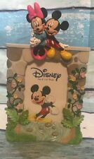 Walt Disney Mickey & Minnie Mouse Resin 4x6 Photo Picture Frame Easel Back CUTE