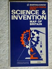 Science & Invention of Britain by Bartholomew & Son - Folding Map.