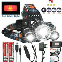 Rechargeable 90000LM T6 LED Headlamp Headlight Flashlight Head Torch 18650 Camp&