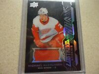 2018-19 UD BLACK ROOKIE JERSY MICHAEL RASMUSSEN RED WINGS LR-MR