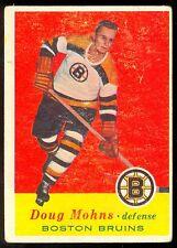 1957-58 TOPPS HOCKEY #12 DOUG MOHNS VG-EX BOSTON BRUINS CARD