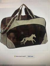 Awst International Galloping Horse Duffle Bag - Black & Gray Nwt