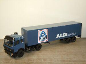 Mercedes Truck & Trailer Aldi Markt - Lion Toys 1:50 *53058