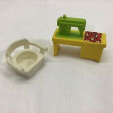 Vintage Fisher Price Little People  Lime/ Green  Sewing Machine Chair
