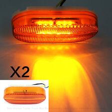 2x 6 LED Rectangle Clearance 12V Side Marker Lights For Truck Trailer RV Camper