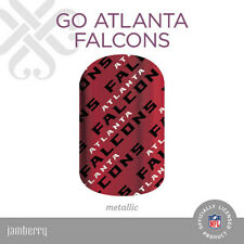 Authentic JAMBERRY Nail Wraps - NFL - Go Atlanta Falcons - Full Sheet