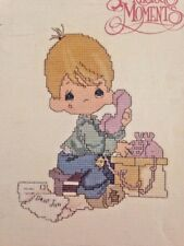 Precious Moments Dear Jon Gloria Pat Counted Cross Stitch Pattern Booklet 1982