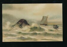 Artist M M MORRIS What are the waves saying ? Tuck  c1900/10s? PPC