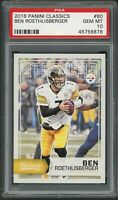 Ben Roethlisberger Steelers 2016 Panini Classics Football Card #80 Graded PSA 10