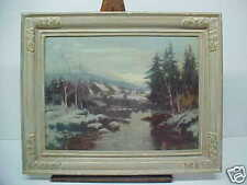 Canadian Painting Hutton Mitchell Winter Scene