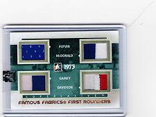 2012-13 ITG SUPERLATIVE 1/1 POTVIN McDONALD GAINEY DAVIDSON GOLD FIRST ROUNDERS