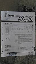yamaha ax-470 service manual original repair book stereo amp amplifier